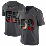 Wholesale Cheap Chicago Bears #52 Khalil Mack Nike 2018 Salute to Service Retro USA Flag Limited NFL Jersey