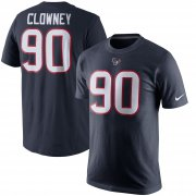 Wholesale Cheap Houston Texans #90 Jadeveon Clowney Nike Player Pride Name & Number T-Shirt Navy