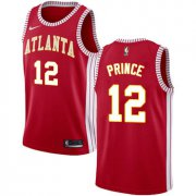 Wholesale Cheap Men's Atlanta Hawks #12 Authentic Taurean Prince Red Basketball Statement Edition Jersey