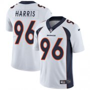 Wholesale Cheap Nike Broncos #96 Shelby Harris White Men's Stitched NFL Vapor Untouchable Limited Jersey