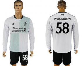 Wholesale Cheap Liverpool #58 Woodburn Away Long Sleeves Soccer Club Jersey