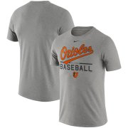 Wholesale Cheap Baltimore Orioles Nike Practice T-Shirt Heathered Gray