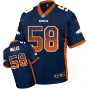 Wholesale Cheap Nike Broncos #58 Von Miller Blue Alternate Youth Stitched NFL Elite Drift Fashion Jersey