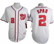 Wholesale Cheap Nationals #2 Denard Span White Cool Base Stitched MLB Jersey