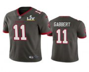 Wholesale Cheap Men's Tampa Bay Buccaneers #11 Blaine Gabbert Grey 2021 Super Bowl LV Limited Stitched NFL Jersey