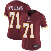 Wholesale Cheap Nike Redskins #71 Trent Williams Burgundy Red Team Color Women's Stitched NFL Vapor Untouchable Limited Jersey