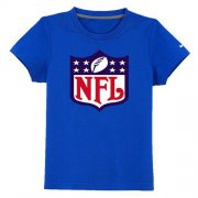 Wholesale Cheap NFL Logo Youth T-Shirt Blue