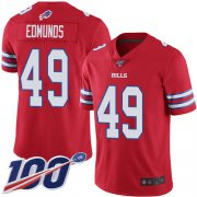 Wholesale Cheap Nike Bills #49 Tremaine Edmunds Red Men's Stitched NFL Limited Rush 100th Season Jersey