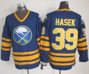 Wholesale Sabres #39 Dominik Hasek Navy Blue CCM Throwback Stitched NHL Jersey
