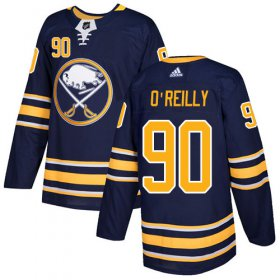 Wholesale Cheap Adidas Sabres #90 Ryan O\'Reilly Navy Blue Home Authentic Youth Stitched NHL Jersey