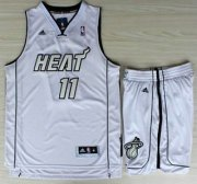 Wholesale Cheap Miami Heat 11 Chris Andersen White Silver Number Revolution 30 Jerseys Shorts NBA Suits