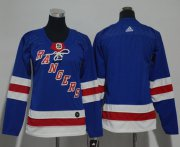 Wholesale Cheap Adidas Rangers Blank Royal Blue Home Authentic Women's Stitched NHL Jersey
