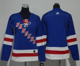 Wholesale Cheap Adidas Rangers Blank Royal Blue Home Authentic Women\'s Stitched NHL Jersey