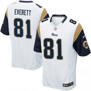 Wholesale Cheap Nike Rams #81 Gerald Everett White Youth Stitched NFL Elite Jersey