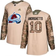 Wholesale Cheap Adidas Avalanche #10 Sven Andrighetto Camo Authentic 2017 Veterans Day Stitched Youth NHL Jersey