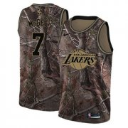 Wholesale Cheap Men's Los Angeles Lakers #7 JaVale McGee Camo Nike NBA Association Edition Swingman Jersey
