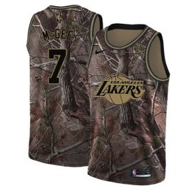 Wholesale Cheap Men\'s Los Angeles Lakers #7 JaVale McGee Camo Nike NBA Association Edition Swingman Jersey