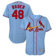 Wholesale Cheap Cardinals #48 Harrison Bader Light Blue Flexbase Authentic Collection Stitched MLB Jersey