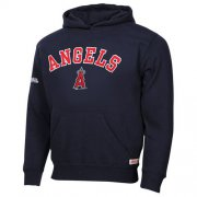 Wholesale Cheap Los Angeles Angels of Anaheim Fastball Fleece Navy Blue Pullover MLB Hoodie