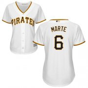 Wholesale Cheap Pirates #6 Starling Marte White Home Women's Stitched MLB Jersey