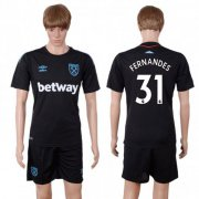 Wholesale Cheap West Ham United #31 Fernandes Away Soccer Club Jersey