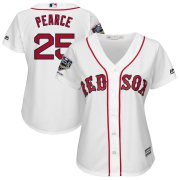 Wholesale Cheap Boston Red Sox #25 Steve Pearce Majestic Women's 2018 World Series Champions Home Cool Base Player Jersey White