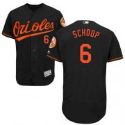 Wholesale Cheap Orioles #6 Jonathan Schoop Black Flexbase Authentic Collection Stitched MLB Jersey