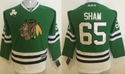 Wholesale Blackhawks #65 Andrew Shaw Green Stitched Youth NHL Jersey