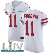 Wholesale Cheap Nike 49ers #11 Marquise Goodwin White Super Bowl LIV 2020 Men's Stitched NFL Vapor Untouchable Elite Jersey