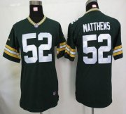 Wholesale Cheap Nike Packers #52 Clay Matthews Green Team Color Youth Stitched NFL Elite Jersey
