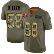 Wholesale Cheap Denver Broncos #58 Von Miller Men's Nike 2019 Olive Camo Salute To Service Limited NFL Jersey