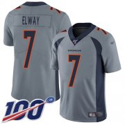 Wholesale Cheap Nike Broncos #7 John Elway Gray Men's Stitched NFL Limited Inverted Legend 100th Season Jersey