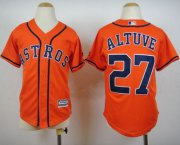 Wholesale Cheap Astros #27 Jose Altuve Orange Cool Base Stitched Youth MLB Jersey