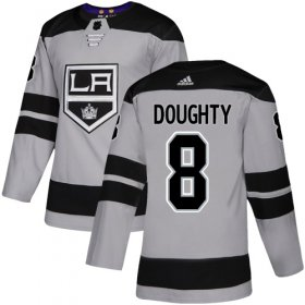 Wholesale Cheap Adidas Kings #8 Drew Doughty Gray Alternate Authentic Stitched Youth NHL Jersey