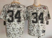 Wholesale Cheap Nike Bears #34 Walter Payton Camo Men's Stitched NFL Elite USMC Jersey