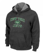 Wholesale Cheap New York Jets Heart & Soul Pullover Hoodie Dark Grey