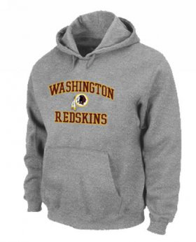 Wholesale Cheap Washington Redskins Heart & Soul Pullover Hoodie Grey