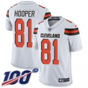 Wholesale Cheap Nike Browns #81 Austin Hooper White Youth Stitched NFL 100th Season Vapor Untouchable Limited Jersey