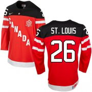 Wholesale Cheap Olympic CA. #26 Martin St.Louis Red 100th Anniversary Stitched NHL Jersey