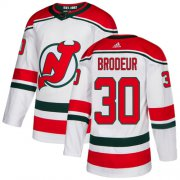 Wholesale Cheap Adidas Devils #30 Martin Brodeur White Alternate Authentic Stitched Youth NHL Jersey