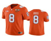 Wholesale Cheap Men's Clemson Tigers #8 Justyn Ross Orange 2020 National Championship Game Jersey