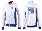 Wholesale Cheap NHL New York Rangers Zip Jackets White-3