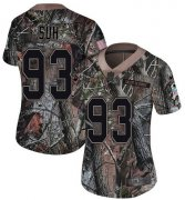 Wholesale Cheap Nike Buccaneers #93 Ndamukong Suh Camo Women's Stitched NFL Limited Rush Realtree Jersey