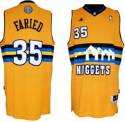 Wholesale Cheap Denver Nuggets #35 Kenneth Faried Revolution 30 Swingman Yellow Jersey