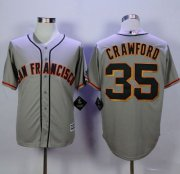 Wholesale Cheap Giants #35 Brandon Crawford Grey Road New Cool Base Stitched MLB Jersey