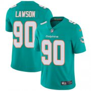 Wholesale Cheap Nike Dolphins #90 Shaq Lawson Aqua Green Team Color Men's Stitched NFL Vapor Untouchable Limited Jersey