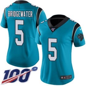 Wholesale Cheap Nike Panthers #5 Teddy Bridgewater Blue Alternate Women\'s Stitched NFL 100th Season Vapor Untouchable Limited Jersey