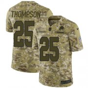 Wholesale Cheap Nike Redskins #25 Chris Thompson Camo Youth Stitched NFL Limited 2018 Salute to Service Jersey