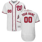 Wholesale Cheap Washington Nationals Majestic Home Flex Base Authentic Collection Custom Jersey White