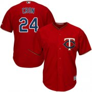 Wholesale Cheap Twins #24 C.J. Cron Red Cool Base Stitched Youth MLB Jersey